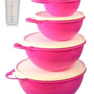 Tupperware Kitchen - NEW Neon Pink Tupperware Thatsa Bowl Set & Shaker